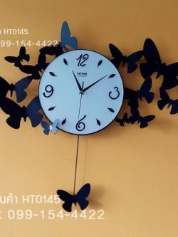 นาฬิกาติดผนังดีไซน์โมเดิร์น รูปผีเสื้อหลายตัว