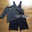 Lady Ribbon's Made Lady Chiara Minimal Chic Striped Top with Overall Jumpsuit Set thumbnail 5