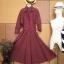 Vintage dress : เดรสเชิ๊ตลายสก๊อต แพทเทิร์นเข้ารูป แขนยาว มีกระเป๋าข้าง thumbnail 1