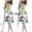 Lady Ribbon's Made Lady Rosie English Roses Printed White Sleeveless Dress thumbnail 3