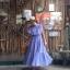 vintage dress : แม็กซี่เดรสสีม่วงลาเวนเดอร์แต่งระบาย แซมด้วยลูกไม้เป็นช่วงๆ แพทเทิร์นเข้ารูป ผ้าชีฟองเนื้อดีพร้อมซับใน thumbnail 3