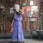 vintage dress : แม็กซี่เดรสสีม่วงลาเวนเดอร์แต่งระบาย แซมด้วยลูกไม้เป็นช่วงๆ แพทเทิร์นเข้ารูป ผ้าชีฟองเนื้อดีพร้อมซับใน thumbnail 2