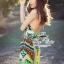 Gypsy printed halter-neck maxi dress thumbnail 1