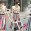 Seoul Secret Say's... Lollita Pleatly Color Flora Print Dress thumbnail 6