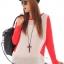เสื้อยืด แขนยาว คอกลม เสื้อสีขาวแขนสีแดง รหัส 44109-แดง thumbnail 1
