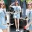 Seoul Secret Say's... Nifty Denim Shirt Dress Scraffy thumbnail 6