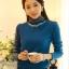 เสื้อทำงาน ผ้าฝ้ายแขนยาว ผ้านิ่มใส่สบาย สีฟ้า thumbnail 1