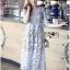 Lady Ribbon's Made Self-Portrait Feminine Guipure Lace with Tonal Lace Trims Dress thumbnail 1