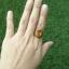 แหวนถมทอง ลายสุโขทัย ประดับบุษราคัมหรือเพชรเจียเหลี่ยมสัปปะรด thumbnail 6