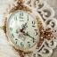 นาฬิกาแขวนแต่งบ้าน Vintage Style กุหลาบทองขอบขาว thumbnail 4
