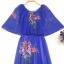 vintage dress : งานวินเทจแท้ เดรสวินเทจสีม่วงลายเชิง แต่งระบายคลุมไหล่ ด้านในเป็นแขนกุด แพทเทิร์นเอวจั๊ม ซิบหลัง เนื้อผ้าชีฟอง พร้อมซับใน thumbnail 2