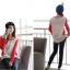 เสื้อยืด แขนยาว คอกลม เสื้อสีขาวแขนสีแดง รหัส 44109-แดง thumbnail 6