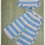 Sweet Bunny Present... Stripe Cross Wide Pants Set thumbnail 6