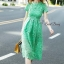 Lace shift lime long dress by Sweet Bunny thumbnail 2