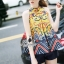 Korea Design By Lavida aristocrat yellow printed sleeveless top short pants chic set thumbnail 5