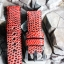 Metal Red Genuine Leather Back Lizard Leather Watch Strap Pam Buckle 24 mm thumbnail 7