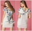 Lady Ribbon's Made Lady Sara Summery Casual Embroidered with Braid Mini Dress thumbnail 4