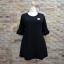 ชุดดำพร้อมส่ง สำหรับสาวอวบ++ F 36-43 นิ้ว T5107 thumbnail 5