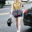 Korea Design By Lavida aristocrat yellow printed sleeveless top short pants chic set thumbnail 3