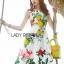 Lady Ribbon's Made Lady Rosie English Roses Printed White Sleeveless Dress thumbnail 1