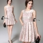 Cliona Made' Pinky Golden Floral Lace Luxury Dress thumbnail 4