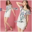 Lady Ribbon's Made Lady Sara Summery Casual Embroidered with Braid Mini Dress thumbnail 5