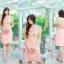 Size= M,L,XL, 3XL ,5XL ชุดเดรส-ไซส์เล็ก-ไซส์ใหญ่ เดรสติดกัน เสื้อลูกไม้ทอลายส้ม ชายหยัก กระโปรงผ้า Hana thumbnail 12