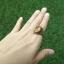 แหวนถมทอง ลายสุโขทัย ประดับบุษราคัมหรือเพชรเจียเหลี่ยมสัปปะรด thumbnail 7
