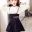 Lady Ribbon's Made Lady Elie Sweet Feminine Monochrome Black and White Dress thumbnail 3