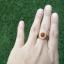 แหวนถมทอง ลายสุโขทัย ประดับพลอยล้อมเพชร thumbnail 4