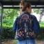 vintage jacket : แจ็คเก็ตยีนส์สีเข้ม งานปักลายหน้า/หลัง แบบละเอียด เนื้อผ้าไม่หนามาก ใส่คลุมเก๋ๆ แมทได้หลากหลาย thumbnail 4
