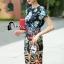 Cliona made' DG Marco Polo Adventure Luxury Printing Dress thumbnail 1
