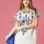 Lady Ribbon's Made Lady Sara Summery Casual Embroidered with Braid Mini Dress thumbnail 6