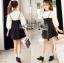 Lady Ribbon's Made Lady Elie Sweet Feminine Monochrome Black and White Dress thumbnail 2
