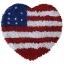 พรมแฟนซี ลาย หัวใจธงอเมริกา thumbnail 1
