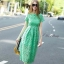 Lace shift lime long dress by Sweet Bunny thumbnail 3