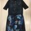 Cliona made'Space Trip Printing Long Shirt Dress thumbnail 6