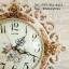 นาฬิกาแขวนแต่งบ้าน Vintage Style กุหลาบทองขอบขาว thumbnail 5