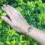 สร้อยข้อมือ ลายสุโขทัย ประดับพลอย ขนาดใหญ่ thumbnail 3