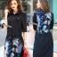 Cliona made'Space Trip Printing Long Shirt Dress thumbnail 1