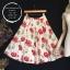 vintage skirt : กระโปรงวินเทจ สีครีมพิมพ์ลายดอกโบตั๋น จับจีบใหญ่รอบตัว ผ้าแคนวาสเนื้อดีพร้อมซับใน thumbnail 1