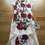 Lady Ribbon's Made Lady Monique Sophisticated Red Roses Printed Peplum Dress thumbnail 5