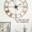 นาฬิกาแขวนผนังขนาดใหญ่ตกแต่งบ้านใหม่สวยๆ แนวลอฟท์ตัวเลขโรมัน thumbnail 2