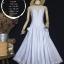 vintage dress : เดรสยาวลายทางขาว/ฟ้า สม๊อคหลัง ชายกระโปรงแต่งระบายด้วยผ้าลูกไม้ ผ้าคอตตอนเนื้อดีไม่บาง น่ารักสุดๆ : thumbnail 1