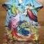 Lady Jennifer Casual Vivid Color Mix Printed Chiffon Dress สีฟ้า thumbnail 6