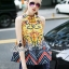 Korea Design By Lavida aristocrat yellow printed sleeveless top short pants chic set thumbnail 1