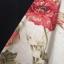 vintage skirt : กระโปรงวินเทจ สีครีมพิมพ์ลายดอกโบตั๋น จับจีบใหญ่รอบตัว ผ้าแคนวาสเนื้อดีพร้อมซับใน thumbnail 2