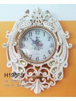 นาฬิกาแขวนผนัง Modern นกยูงคู่ประดับพลอย