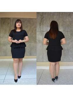 ชุดดำ สำหรับสาวอวบ++ F 36-43นิ้ว T5101