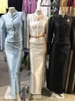 พร้อมส่งชุดไทยจิตรลดา สีดำ,สีฟ้า,สีขาวครีม,สีชมพู,สีทอง,